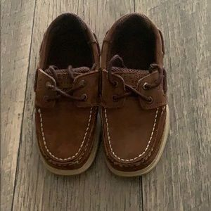 Brown boys top-sider Sperrys size 12